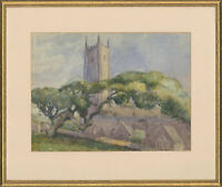 Mid 20th Century Watercolour - View of a Cathedral