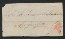 More details for 1883 peru cover front puno o/p on arequipa provisional stamp bisect pacific war