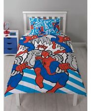 SPIDERMAN SINGLE BED DUVET COVER WITH PILLOWCASE SET KIDS BEDDING CLEARANCE SALE