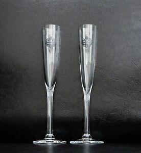 SMIRNOFF VODKA SHOT GLASSES FLUTES SET OF 2 - LOT 01