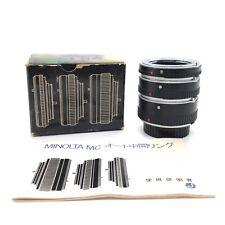 【MINT IN BOX】MINOLTA MC AUTO EXTENSION TUBES 14mm/21mm/28mm from Japan #225