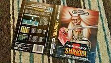 BOX ART ONLY Revenge of Shinobi Original Sega Genesis Case Sleeve