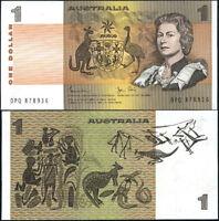 AUSTRALIA 1 DOLLARS 1983 P 42 d QEII UNC