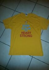 """T-Shirt;'LOGO--""""Keep Calm and HEART STRONG"""";Large"""