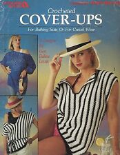 Vtg Crocheted Cover-Ups Bathing Suit Swim Patterns Leisure Arts Craft Book #2029