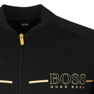 HUGO BOSS Black Gold Zip Up Logo