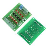 4 Channel 24V to 5V PLC Signal Converter Level Voltage Board 4Bit Optocoupler