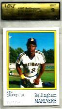1987 BELLINGHAM MARINERS KEN GRIFFEY JR. TEAM ISSUE CARD #15 MINT GRADING 9 RC