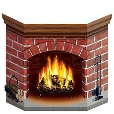 Brick Fireplace Stand up - 94 x 64 cm - Winter & Christmas Party Cutout Standin