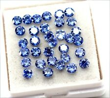 Natural Certified Ceylon Sapphire Round Cut 3x3 mm lot pieces Loose Gemstone