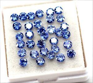 Natural Certified Ceylon Sapphire Round Cut 3x3 mm lot piece Loose Gemstone