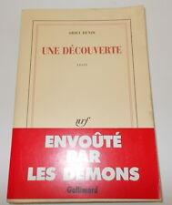 ARIEL DENIS UNE DECOUVERTE EO 1989 GALLIMARD ENVOI DEDICACE