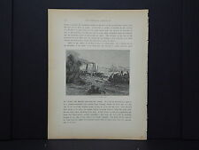 """One In-Text Engraving, c 1872 S4#049 A """"Crevasse"""" On The Mississippi Louisiana"""
