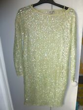 ASOS green sequin party dress size 10 long sleeves