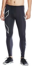 2XU Elite Long Mens Compression Tights Black Gym Sports Training Workout