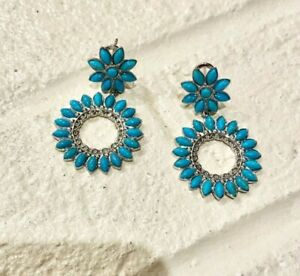 Sleeping Beauty Turquoise Earrings Southwest Style JTV