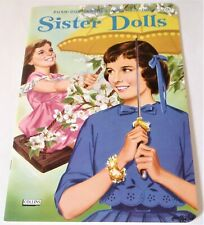 Sister Dolls Paper Doll Book Vintage 1965 Collins Unused