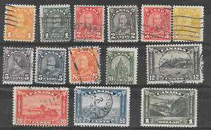 Canada almost complete 1930 George V regular and pictorial issue