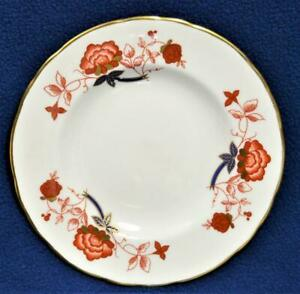 """New ROYAL CROWN DERBY Bone China England BALI #A1100 6 1/4""""d Bread & Butte Plate"""