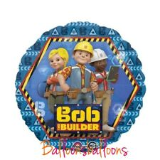 "18"" Bob The Builder Party Round Foil Balloon Digger Dumper Building"