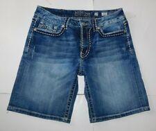 Miss Me Blue Denim Bermuda Shorts Size 29
