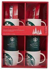 Starbucks Porcelain Mug Gift Set 4 Porcelain 14oz Mugs bonus