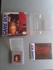NINTENDO GAME BOY KINGDOM CRUSADE COMPLETE BOX & MANUAL CIB USA NEAR MINT RARE++