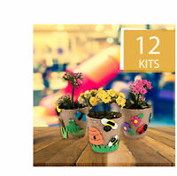Garden Pot Craft Kit - DIYCraft Kits For Kids -  Mother's Day Gifts -12 Pieces