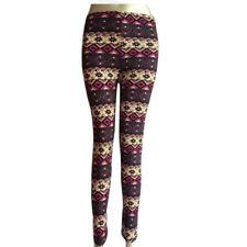Fashion Women Knit Snowflake Leggings Xmas Stretch Nine Pants Colorful Thin New