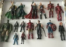 15 Marvel Figures -Hasbro 2010 Loki Thor 2011 Hulk Black Widow Captain America