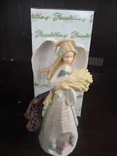 "Foundations Enesco HARVEST ANGEL 9"" Figurine 4005131 new in box"