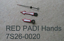 RED PADI HANDS SET made for SEIKO Diver 7S26-0020 New