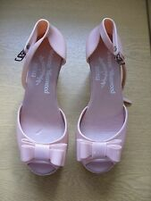 Ladies Shoes Vivienne Westwood Melissa baby pink plastic wedges UK 4 EU 37, 3072