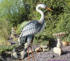 HERON Garden Statue Patio Feature Outdoor Figure Ornament Sculpture