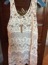 Womans Swim Suit Lace  Coverup Cremieux sz L