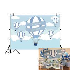 photo background hot air balloon backdrop cloud cartoon blue sky birthday party