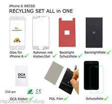 iPhone 6 4,7 DISPLAY DIGITIZER RECYCLING REPARATUR SET RAHMEN POL BACKLIGHT