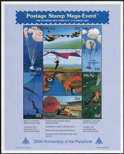 Palau 422-423 sheets,424-425,MNH. Parachute-200.1997