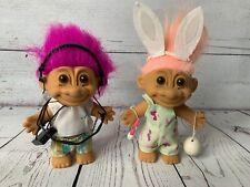 Lot of RUSS Troll Dolls 18567 & 18366 Artist Bunny & Vacation Beach Shorts