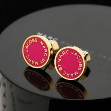 MARC BY MARC JACOBS Enamel Logo Disc Stud Earrings In Blush/Golden
