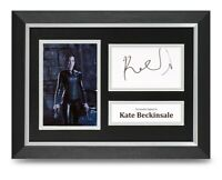 Kate Beckinsale Signed A4 Framed Photo Display Underworld Autograph Memorabilia