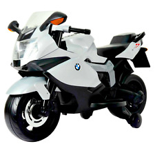 BMW 12 Volt Battery Powered Motorcycle Ride On, White; Kids; 5 mph; Licensed