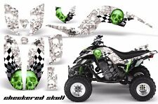 AMR Racing Yamaha Raptor660 Graphic Kit Wrap Quad Decals ATV 2001-2005 CHKRD GRN