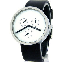 ISSEY MIYAKE MEN WATCH JAPAN MADE MULTIFUNCTION DAY-DATE 38mm LEATHER SILAP008