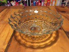 """FOSTORIA Stacked Cube Footed 10"""" Seving Bowl"""