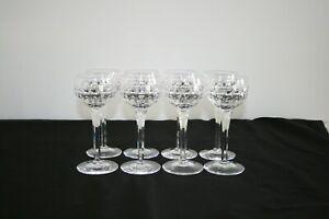 VINTAGE SET OF 8 STUART CRYSTAL CUT GLASS TALL STEM WINE GLASS