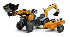 Case Construction Pedal Backhoe With Rear Excavator and Trailer Ride on Fa967n