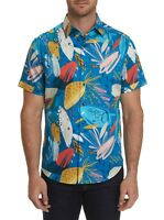 ROBERT GRAHAM MEDITERRANEAN BLUE S/S PRINTED CLASSIC FIT SPORT SHIRT $178 NWT