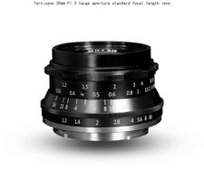 7artisans 35mm F1.2 Manual Focus HD.MC LENS Black f/ Canon EOS M EF-M Camera
