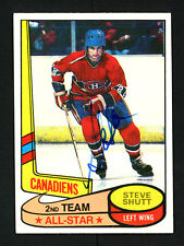 Steve Shutt Autographed Signed 1980-81 Topps Card #89 Montreal Canadiens 154256